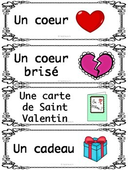 Vocabulaire de la Saint Valentin
