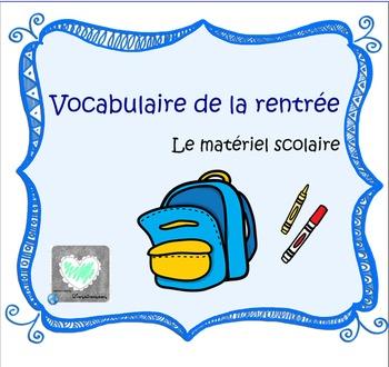 Vocabulaire de la rentrée et de l'école TBI/TNI/Smartboard French SchoolSupplies