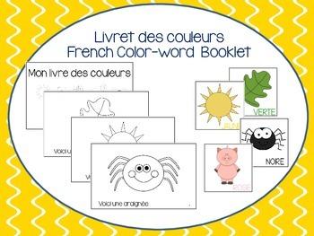 Vocabulaire des couleurs (petit livret à compléter) - French Color Words