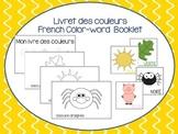 Vocabulaire des couleurs (petit livret à compléter) - Fren