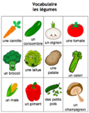 Vocabulaire des légumes