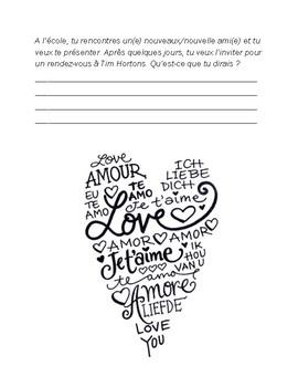 Vocabulaire du St. Valentin