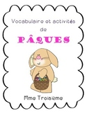 Vocabulaire et activités de Pâques/Easter Vocabulary and Literacy Activities