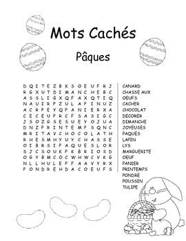 Vocabulaire et activités de Pâques/Easter Vocabulary and Literacy Activities