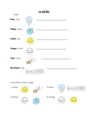 Vocabulaire: la météo