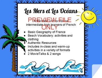 Vocabulaire: les mers et les océans