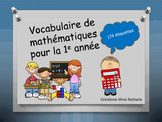 Vocabulaire mathématiques 1e année