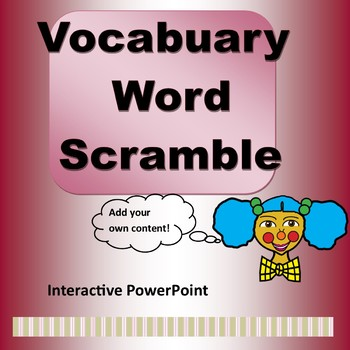 Vocabulary Word Scramble Game Template