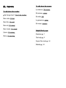 Ca. PE Vocabulario- Autentico 1 Para Empezar