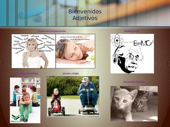 Vocabulario Bienvenidos Adjetivos e Interrogativas Adjectives & Interrogatives