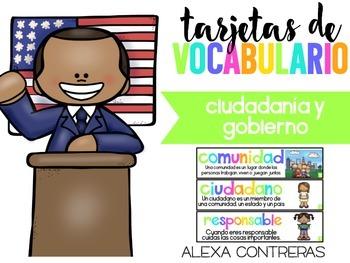 Vocabulario Ciudadania y Gobierno (Citizenship & Governmen