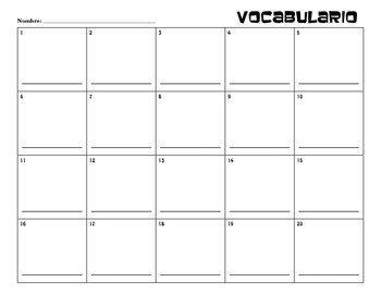 Vocabulario Diccionario (Worksheet)