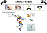 Vocabulario - Hablar por teléfono (Talking on the Phone Vocab Sheet)