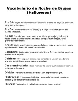 Vocabulario Halloween