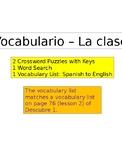 Vocabulario - La Clase Crucigrama