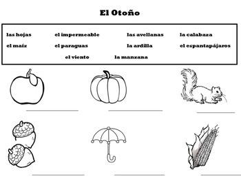 Vocabulario Otoño