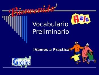 Vocabulario Preliminario:  Fecha, Estaciones,  Saludos, Expresiones de Cortesía