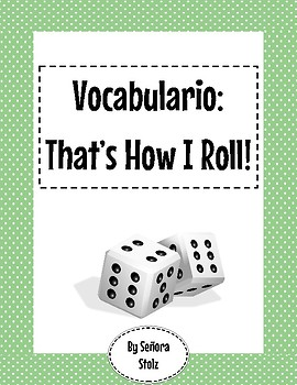 Vocabulario That's How I Roll! Game