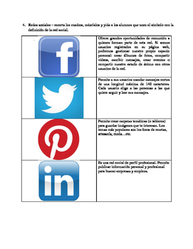 Spanish Vocabulary: Internet / redes sociales/ Spanish song /cancion