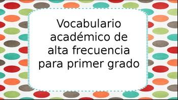 Vocabulario académico de alta frecuencia