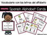 Vocabulario con las letras del alfabeto/Spanish Alphabet V