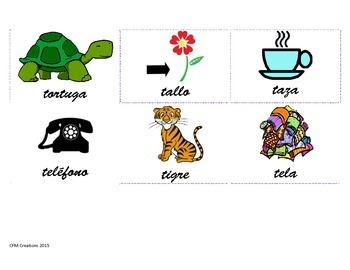 Vocabulario con letra T