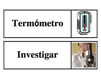 Vocabulario de Ciencias (Spanish Science Word Wall)