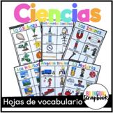 Vocabulario de Ciencias (Science Vocabulary in Spanish)