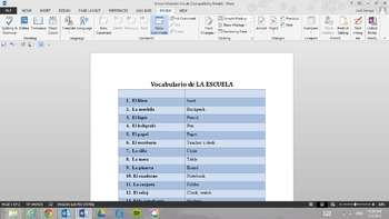 Vocabulario de Escuela (School Vocabulary)