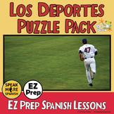 Vocabulario de Los Deportes. Spanish Puzzles and Sub Plans for Sports Vocabulary