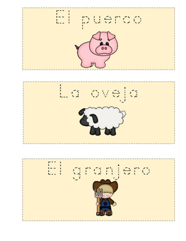 Vocabulario de animales de la granja