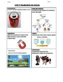 Vocabulario de ciencia 1A