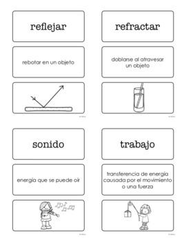 Vocabulario elevar las ciencias Spanish 3rd Grade