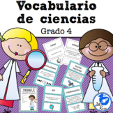 Vocabulario de ciencias Fusión Spanish 4th Grade