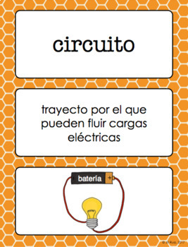 Vocabulario de ciencias Fusión Spanish 5th Grade