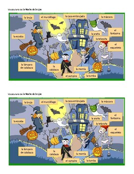 Vocabulario de la Noche de brujas (Halloween Vocabulary in Spanish)