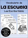 Vocabulario de la escuela {Spanish school supply & classro
