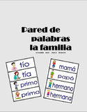 Vocabulario de la familia para la pared de palabras.
