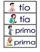 Vocabulario de la familia para la pared de palabras.