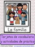 Vocabulario de la familia y actividades de practica / Family Vocabulary -Spanish