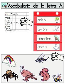 Vocabulario de la letra A