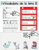 Vocabulario de la letra B