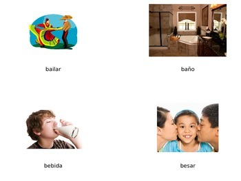 Vocabulario de la letra Bb