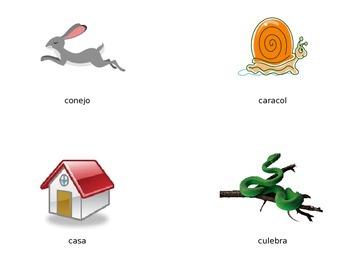 Vocabulario de la letra Cc (Dura)