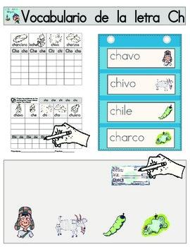 Vocabulario de la letra Ch