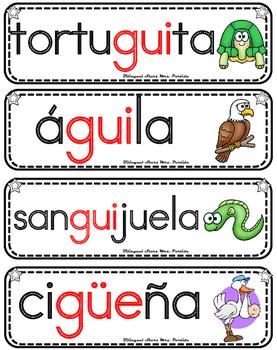 Vocabulario de la letra Gue gui güe güi consonante GueguiGüegüi Mrs. Partida