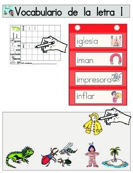 Vocabulario de la letra I
