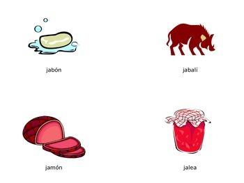 Vocabulario de la letra Jj