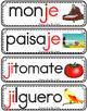 Vocabulario de la letra Jj consonante J j Bilingual Stars Mrs. Partida