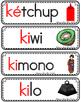 Vocabulario de la letra Kk consonante K k Bilingual Stars